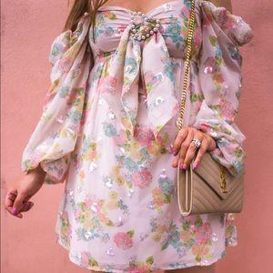 For love & lemons Georgina dress small
